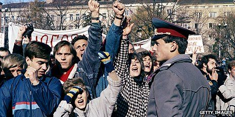 Bulgarians rise up against Communist rule in November 1989 at time popular demonstrations were sweeping across other Soviet satellite states