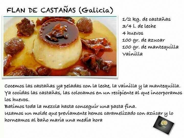 Flan de Castañas (Galicia)