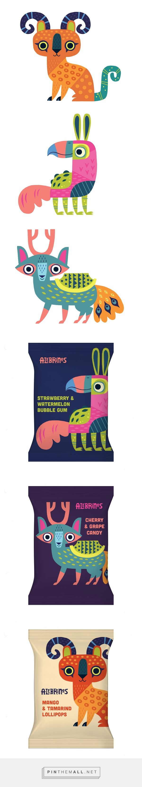 Character design, illustration and packaging for Alebrines on Behance by Alexander Vidal Los Angeles, CA curated by Packaging Diva PD. Created for a line of Mexican candies inspired by traditional Mexican folk art for the packaging smile file : )