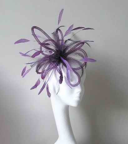 Purple Wedding Fascinator Hat by Hatsbycressida on Etsy, $60.00