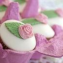 Six Mini Rose Cupcakes - gourmet