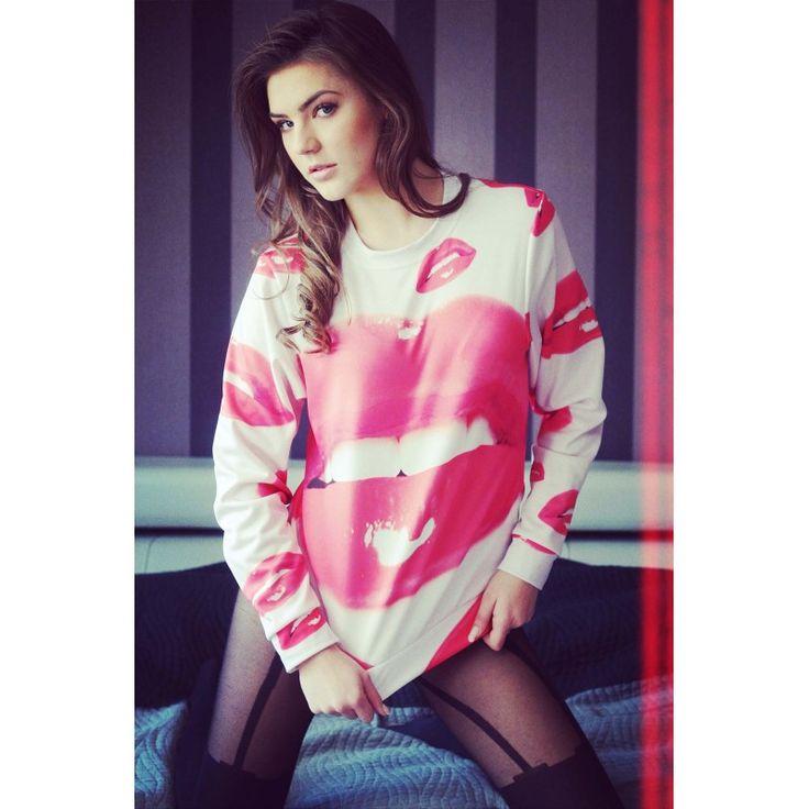 Bluza z nadrukiem Passionate Pink