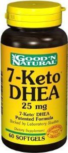 7 Keto DHEA 25mg - 60 softgels,(Good'n Natural) by Good n Natural. $12.77. Potency  25 Mg. Name  7-Keto DHEA. Quantity  60 Sg. Good 'N Natural 7-Keto 7-Keto DHEA Patented Formula. Rapid Release Softgels. Natural 7-Keto™ levels can decline with age, which is why supplementation is important. Backed by laboratory studies, 7-Keto™ gives you what the body naturally produces. Each stimulant-free, caffeine-free softgel contains 25 mg of high quality 7-Keto™ DHEA ...