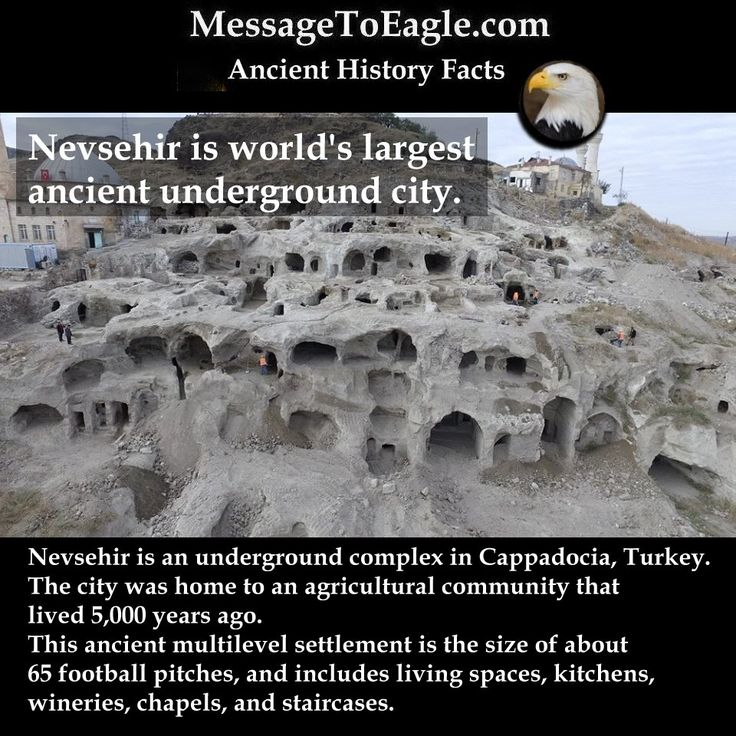 Ancient History Facts: Nevsehir Labyrinth Of Tunnels: Largest And Most Complex Underground City In The World