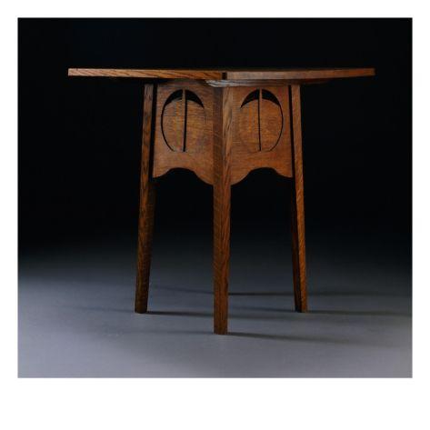 Charles Rennie Mackintosh (1868-1928) - Card Table. Oak. The Argyle Street Tea Rooms. Glasgow, Scotland. Circa 1888-1889.