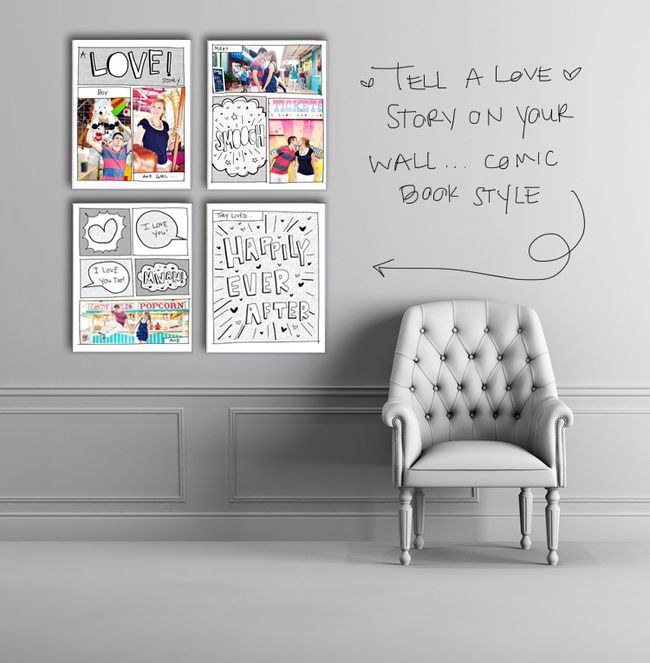 Not the comic book style but love the photo story line layout: Wall Art, Cute Ideas, Comic Books, Art Ideas, Stories Storyboard, Books Style, Diy Bracelet, Books Love, Storyboard Templates