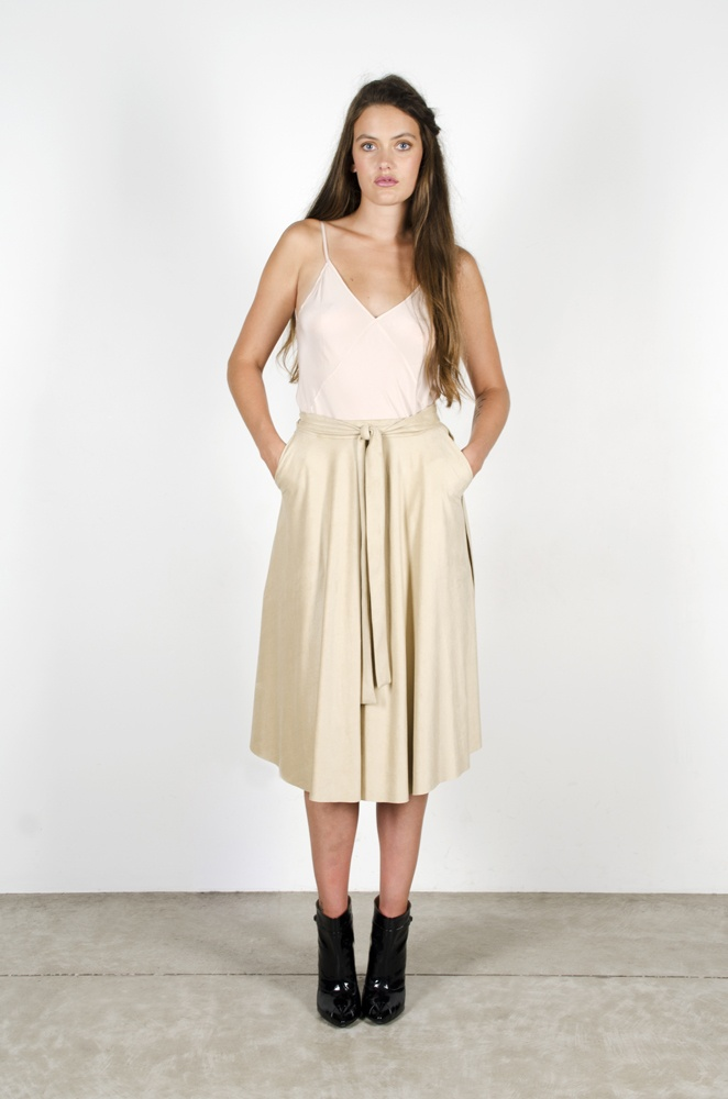 Chimerial Camisole - Blush  Neil Young Skirt - Sand Chamois