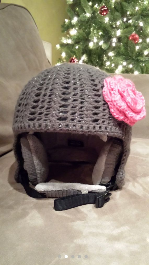 ski/snowboard helmet cover. gotta look cute on the slopes!! JustInspirations on Etsy