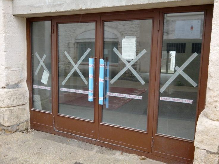 Main entry double glass doors