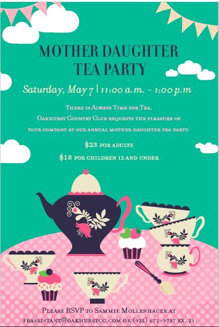 Tea Reception Flyers