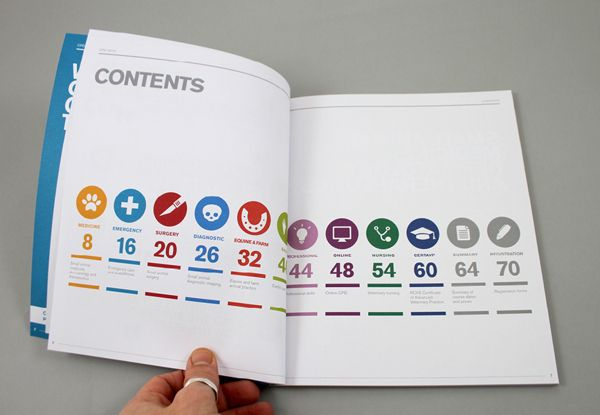 Royal Veterinary College CPD Brochure 2013 by Jonathan Quintin, via Behance #brochure