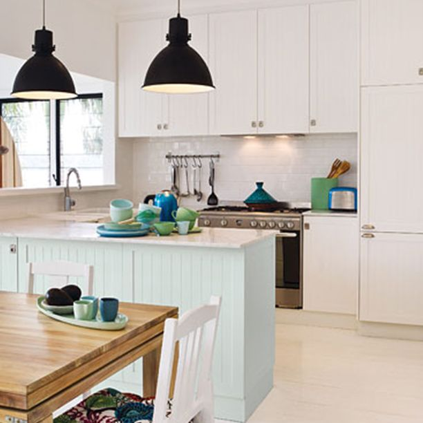 Add an ocean breeze to your home with a pastel feature colour
