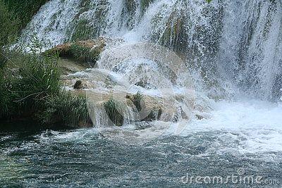 Waterfall at village of Sunj & x28;Croatia& x29;