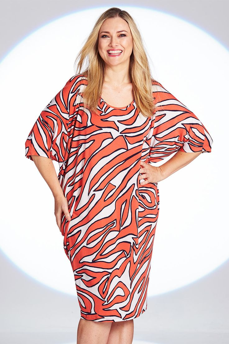BELLE BIRD - Belle Cleo Print Side Drape Dress