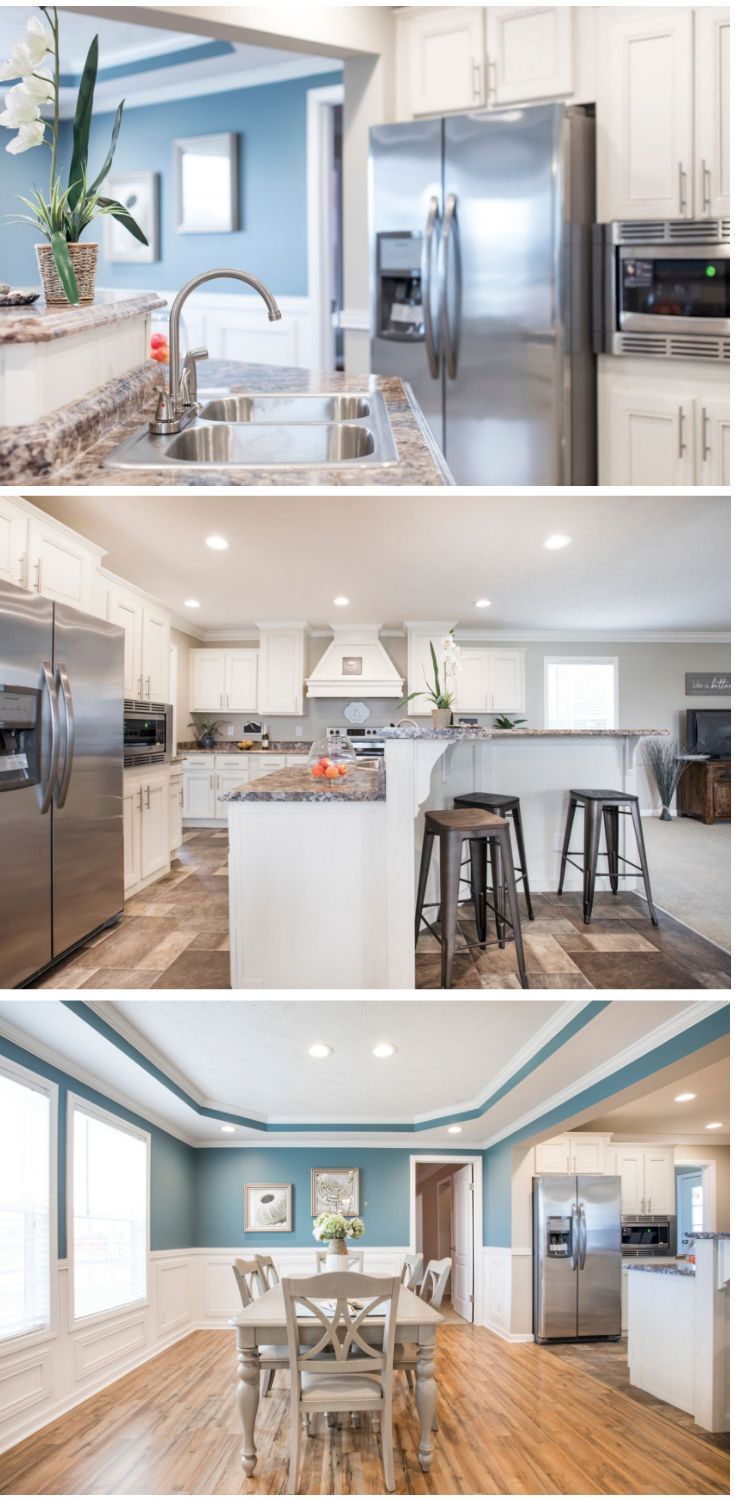 Bright Pops Of Color In Stunning Prefab Home By Clayton Modular Homes For Sale Modular Homes Mobile Home Renovations