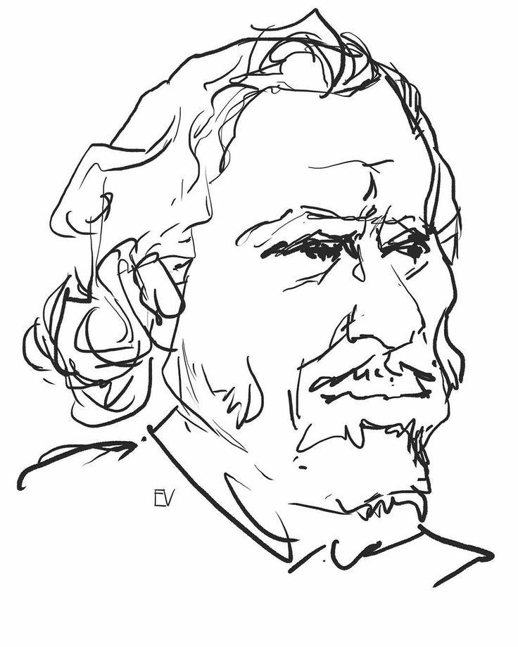#illustration #bukowski #art #portrait #sketch #sketchbook #paper #markersketch #drawing #gallery #graphics #instaart #набросок #рисунок #портрет