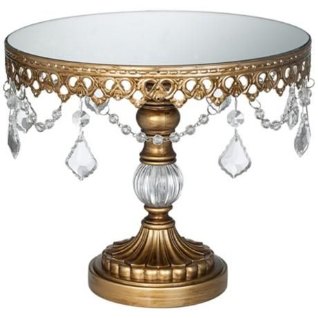 Antique Gold Beaded Small Cake Stand (P1812)  Read 1 Reviews  Write a Review    An exquisite cake stand for special occasions and everyday use.    $24.99
