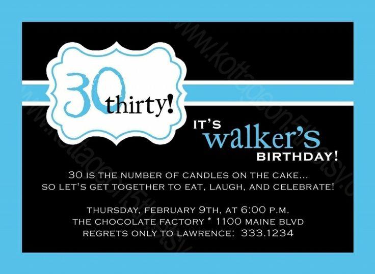 24 best birthday invitation card sample images on pinterest 30th birthday party invitations for mens stopboris Gallery
