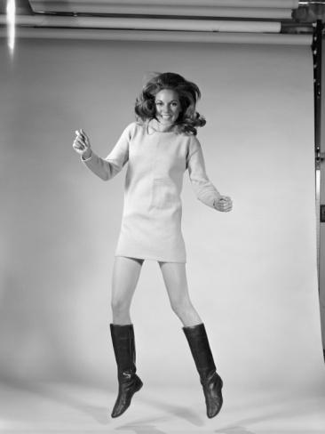 korte jurk // hoge laarzen // Go-Go Dancer Photographic Print by H. Armstrong Roberts at Art.com