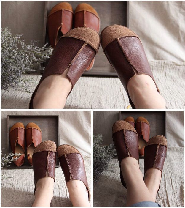 Brown Handmade Shoes,Oxford Women Shoes, Flat Shoes, Retro Leather Shoes, Casual Shoes by HerHis on Etsy https://www.etsy.com/listing/187225977/brown-handmade-shoesoxford-women-shoes