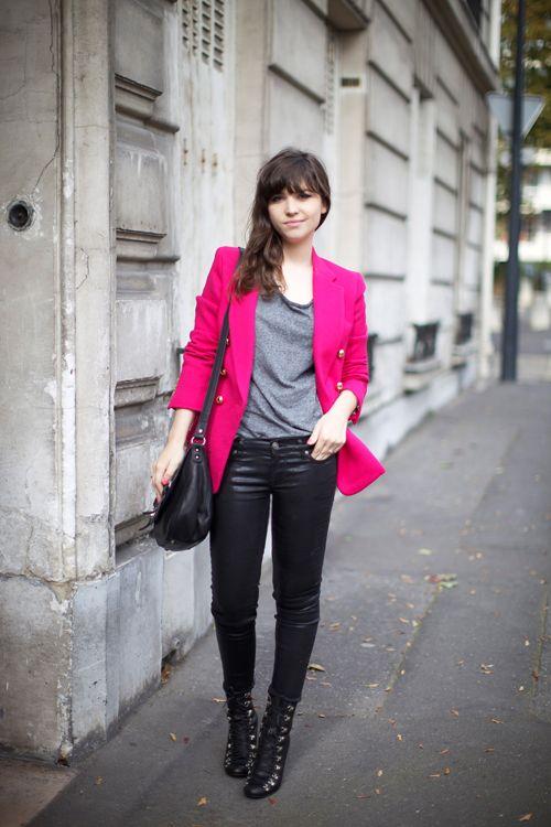 pink blazer!!