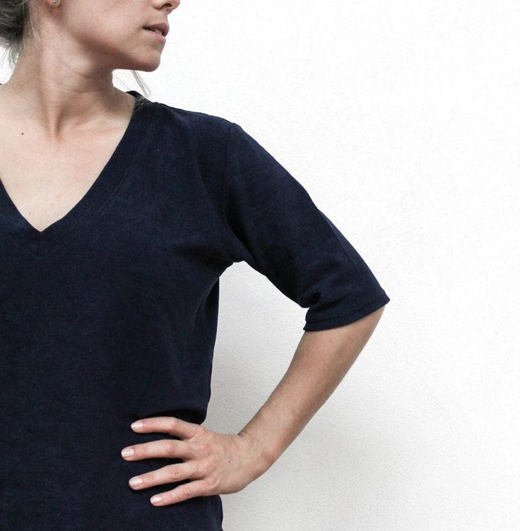 terry tee in navy