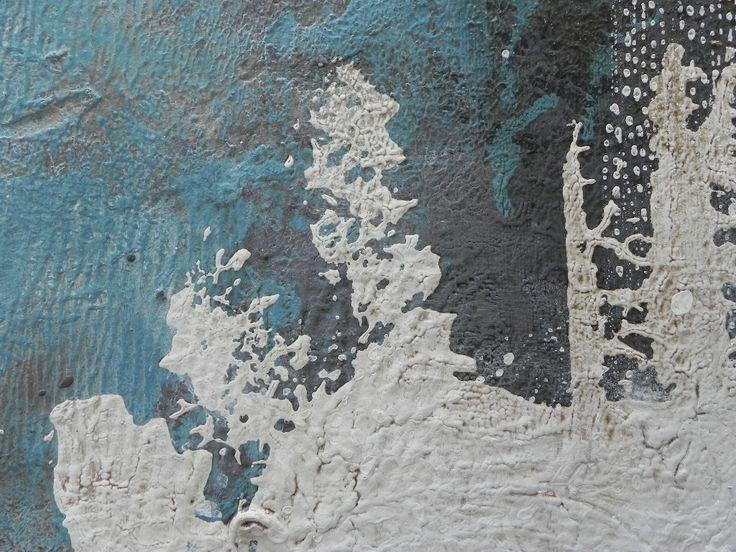 Nærbillede af maleri. Britta Hellesøe