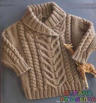 Детский свитер спицами, описание - Жакеты.Пуловеры.Свитера