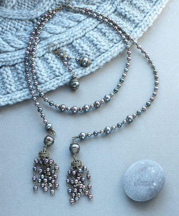 Авторские украшения из натуральных камней - Коллекция из жемчуга
