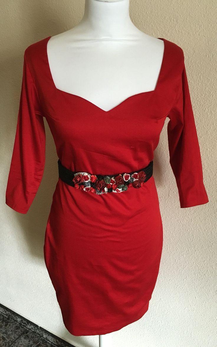 Vestido Rojo Navidad con escote y cinturón. Cosido por mi. Invitada Perfecta. Visita mi página https://m.facebook.com/Diseños-Jess-Cómitre-161266124038160/