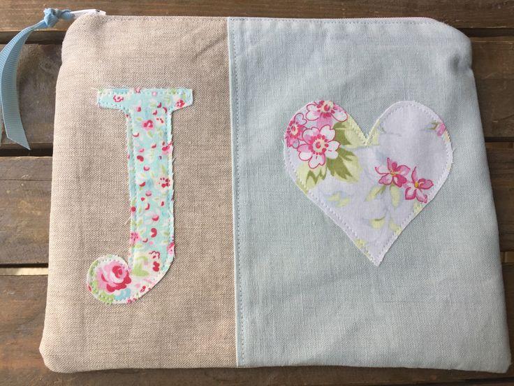 Monogrammed pouch from Alli's Originals $35