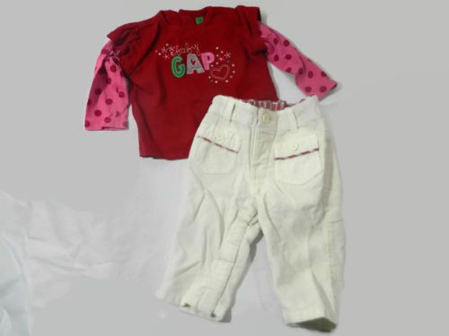 15ea2c289 Baby-Gap-Girl-3-6-Months-Outfit-Cream-Corduroy-Pants-Red-Shirt-Top ...