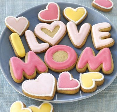 BEARy cute Mother's Day cookies!: Mom Cookies, Mothers Day, Happy Mothers, Food Ideas, Cookies Father Day, Cakes Cakes, Mom Dads, I Love Mom, Letters Cookies