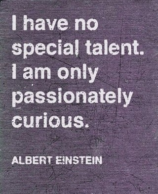 I have no special talent. I am only passionately curious.- Albert Einstein