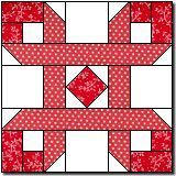 """Ribbon Puzzle. Original design by Marcia Hohn. This makes a 16"""" block! This is an original pattern. Please abide by the"""