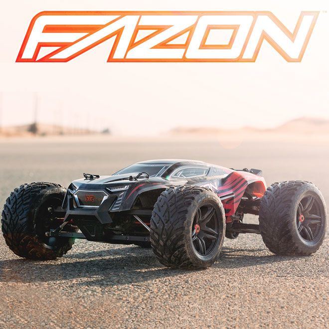 ARRMA® NERO FAZON 6S BLX 4WD RTR. The NERO FAZON mixes a sleek, low-profile design with innovative Diff Brain technology to optimize performance in any track condition. The Diff Brain enables NERO FAZON racers to switch between four versatile driving styles (Blast, Wheelie, Drift and Climb) on the fly, right from the transmitter.