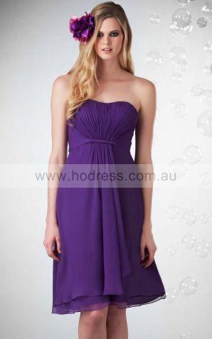 Chiffon Sweetheart Empire A-line Knee-length Bridesmaid Dresses 0740157--Hodress
