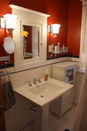 86 best bungalow bathrooms images on pinterest bungalow - Mission style bathroom accessories ...