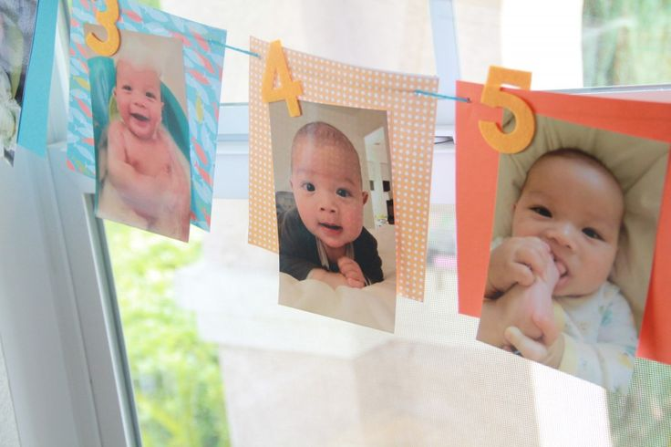 Picture banner for 1st birthday party