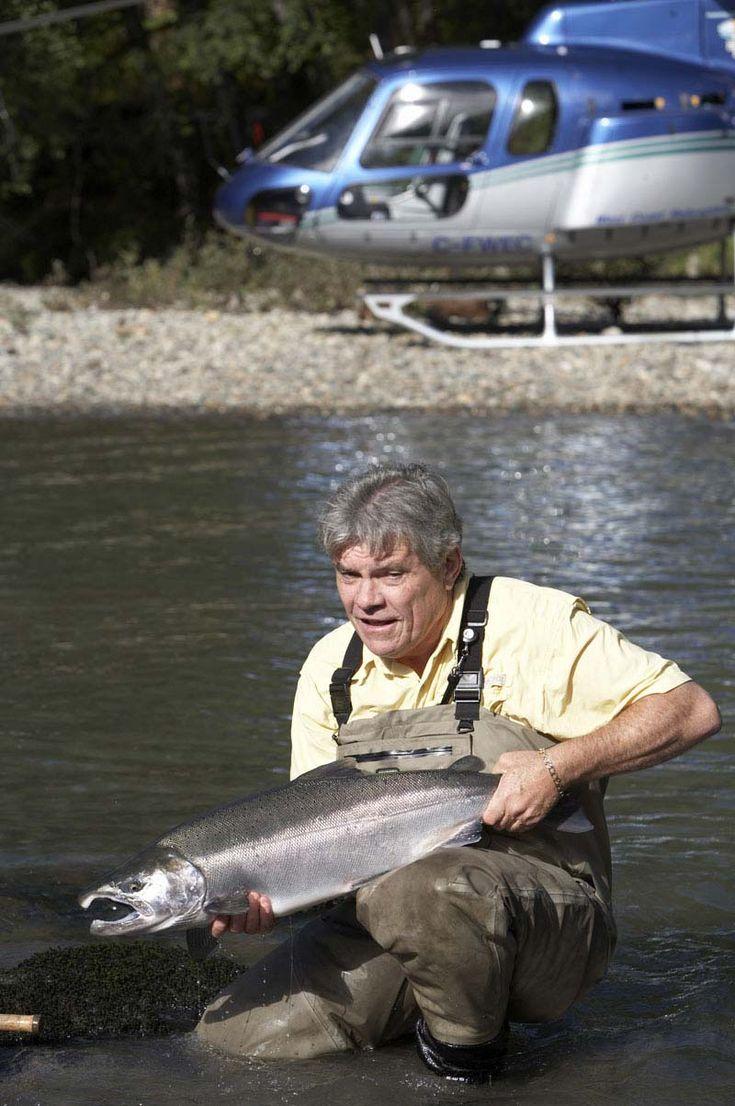 Salmon fishing in British Columbia Canada at Nimmo Bay lodge.