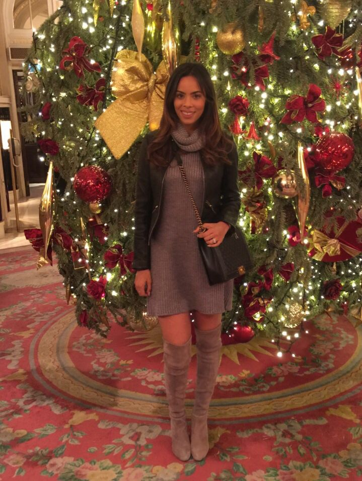 Style File: It's Christmas time... - What's New - Rochelle Humes I adore this outfit, it could even be worn with black tights to just keep ypur legs warm.