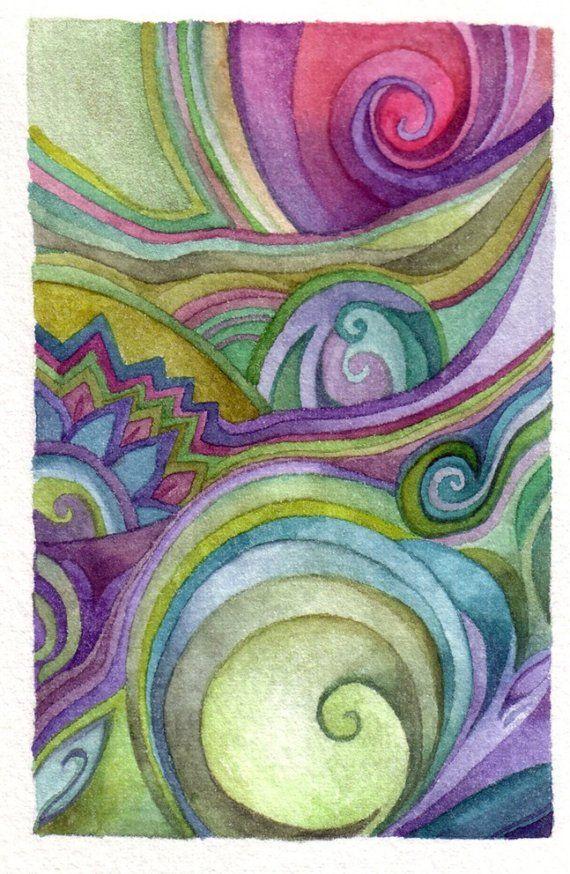 Spirals watercolor