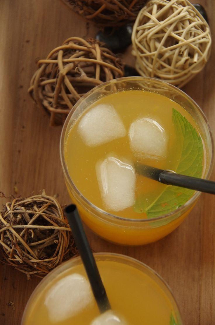 Thé glacé melon, citron et menthe
