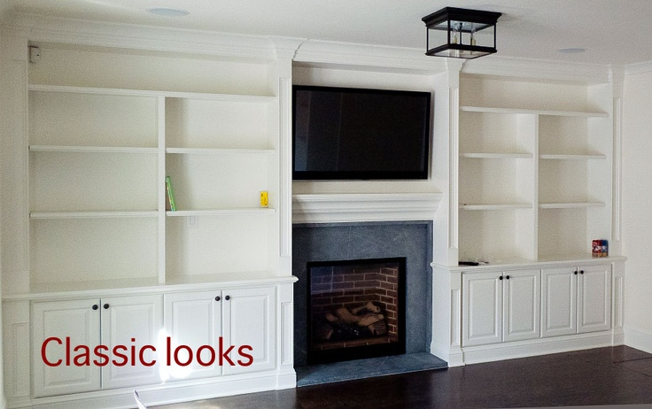 Best fireplace shelves images on pinterest bookcases