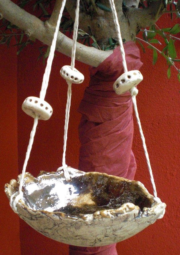 Vogeltränken - Vogeltränke Keramik - ein Designerstück von Sandlilien bei DaWanda
