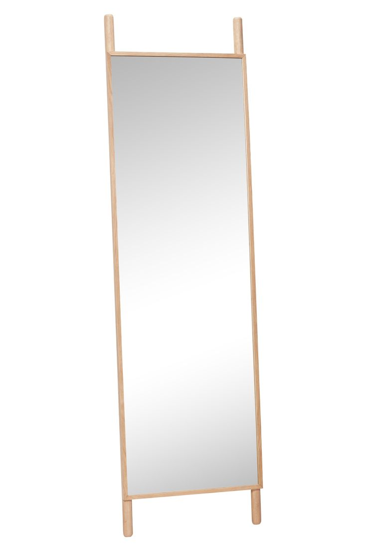 Oak floor mirror. The leaning function creates a lightness to the mirror. Item number: 880414 - Designed by Hübsch