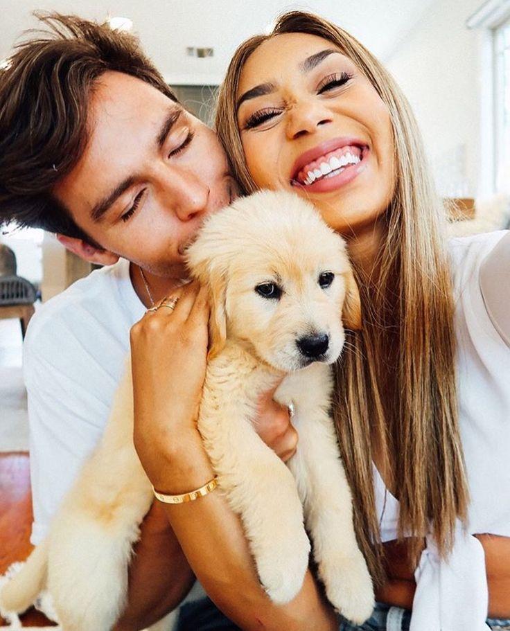 Mylifeaseva - Eva Gutowski - Eva and Adam - couple photos - puppy Sooo cute