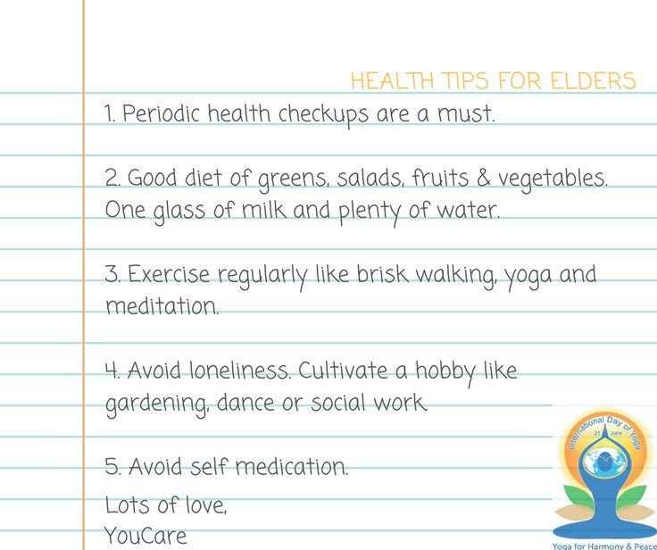 Health tips for the elderly!! https://goo.gl/bzr4MY #seniorcare #nurse #caregiver #homecare #keepcalmandcarryon #chandigarh #mohali #yogaforeveryone #OnYourMat