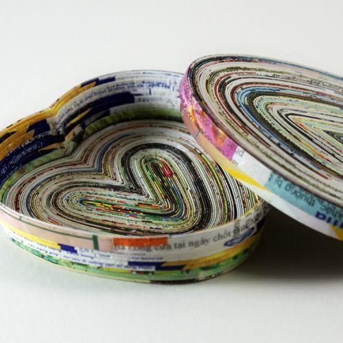 Magazine Page Heart Dish