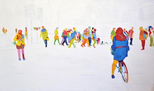 "Sherry Czekus, Oxford & Duke, oil on canvas, 36""x60"". $2600"